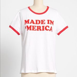 ModCloth NWT Made in 'Merica Ringer Graphic Tee